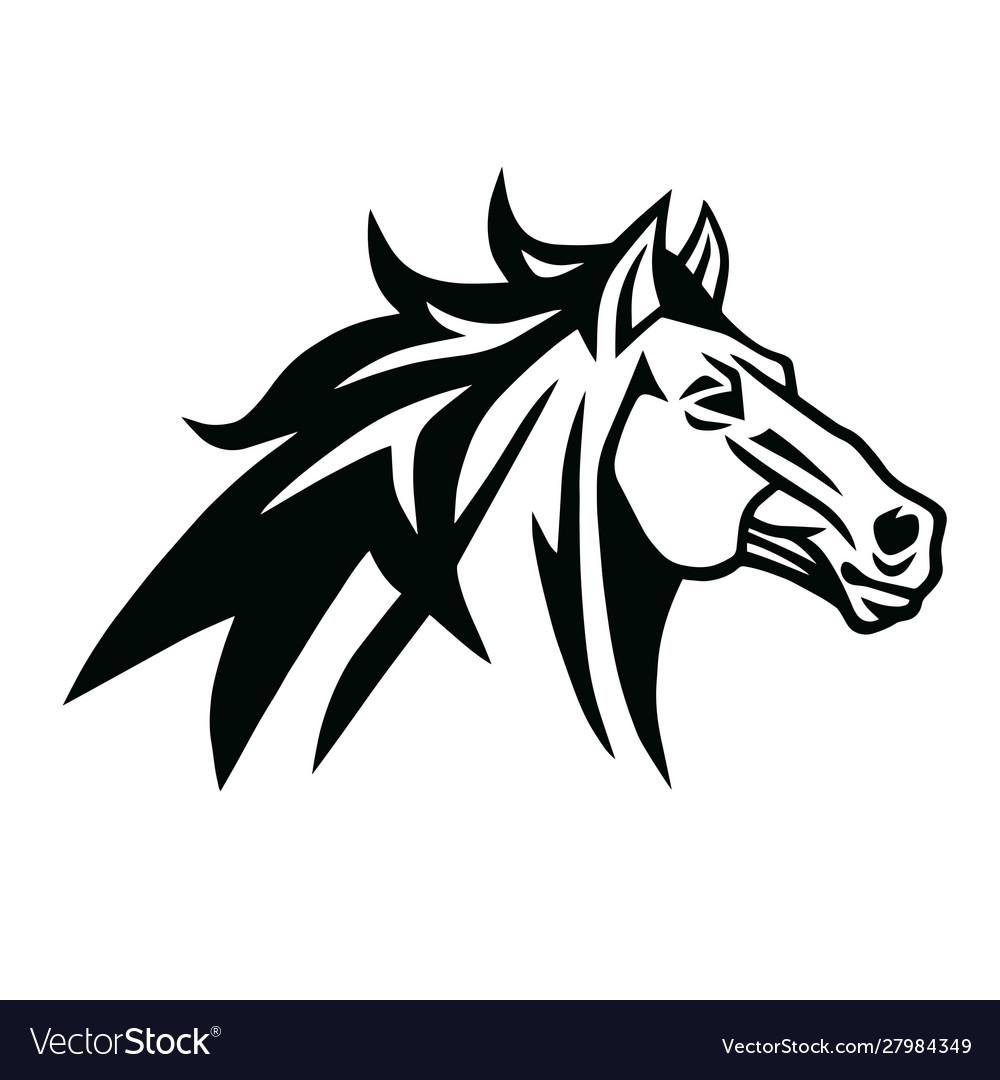 Horse Logo Mascot Design Royalty Free Vector Image
