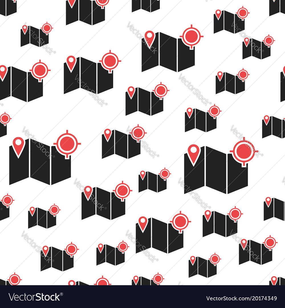 Location pin gps seamless pattern business