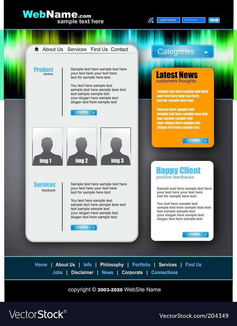 Modern and futuristic website