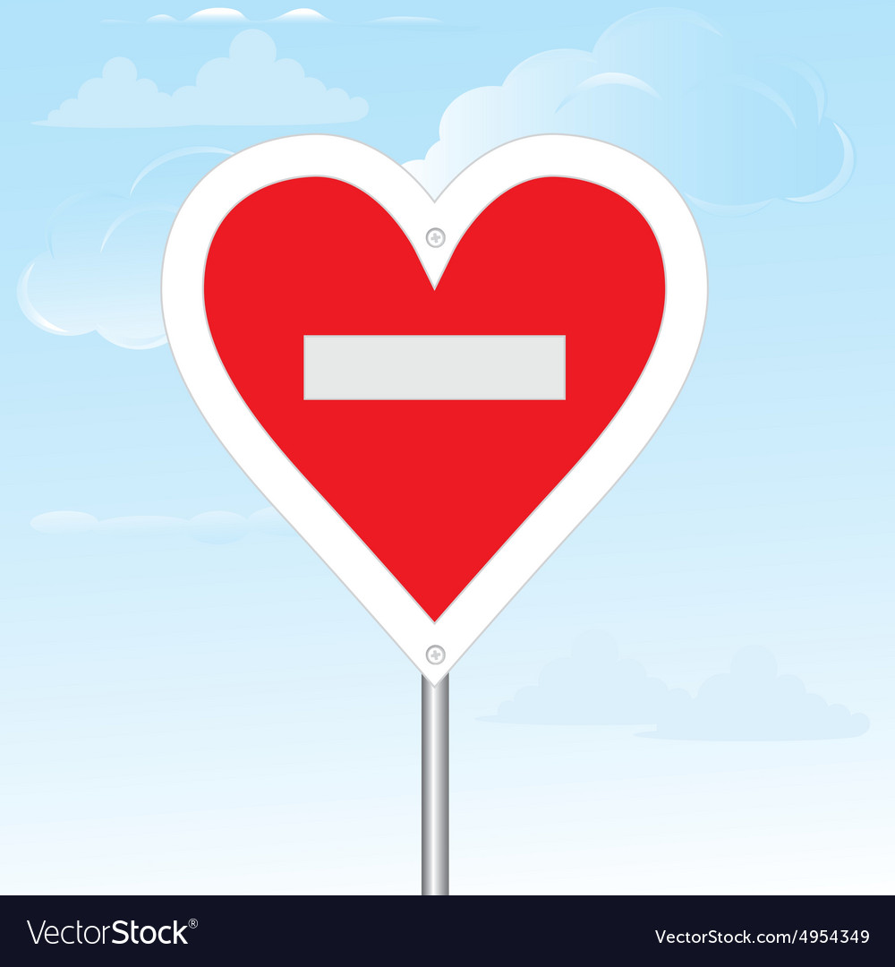 No loving sign composition vector image