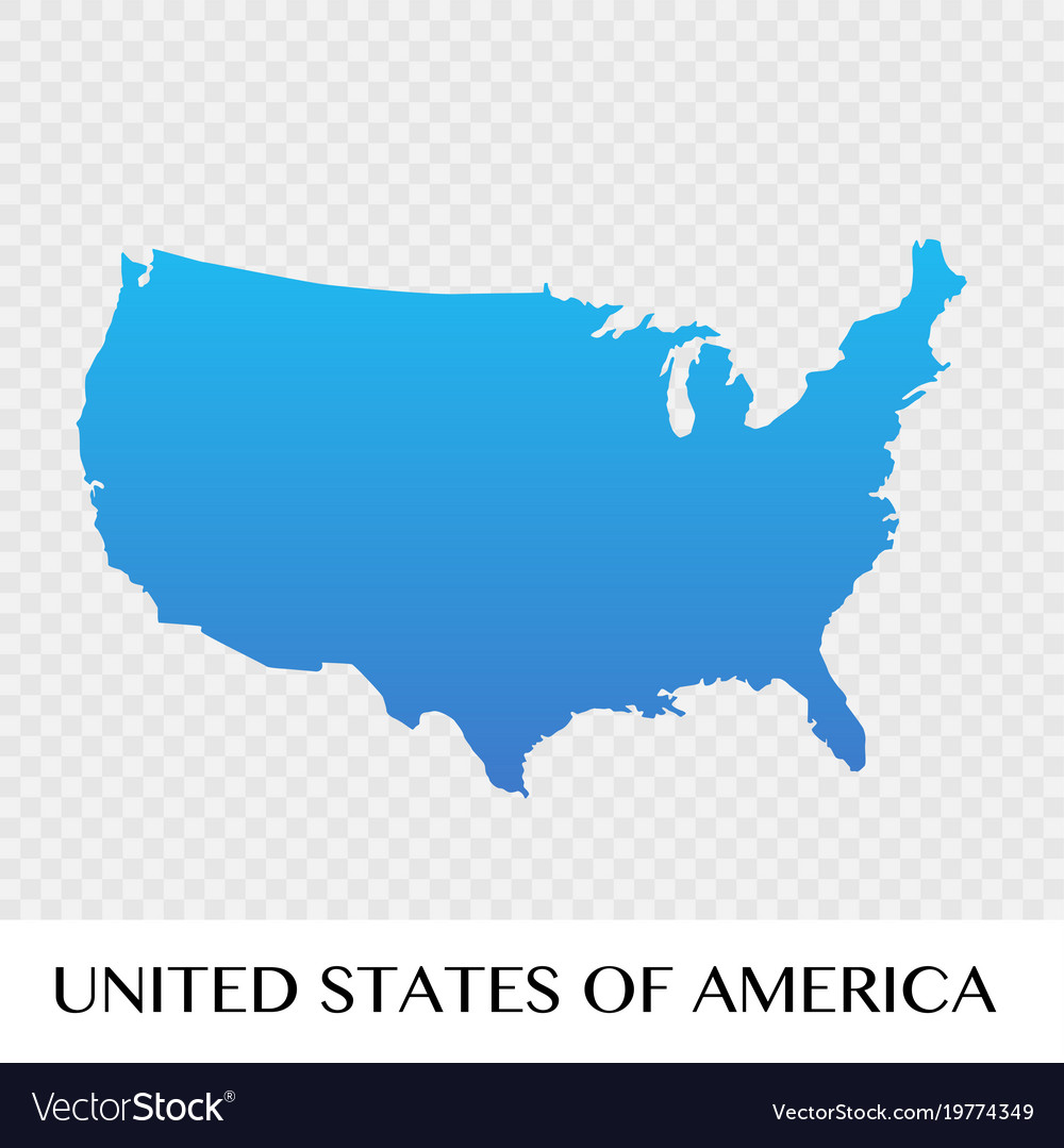 United states of america map in north america