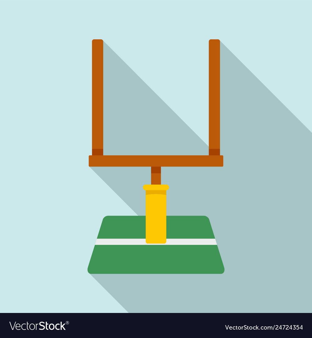 American football gate icon flat style