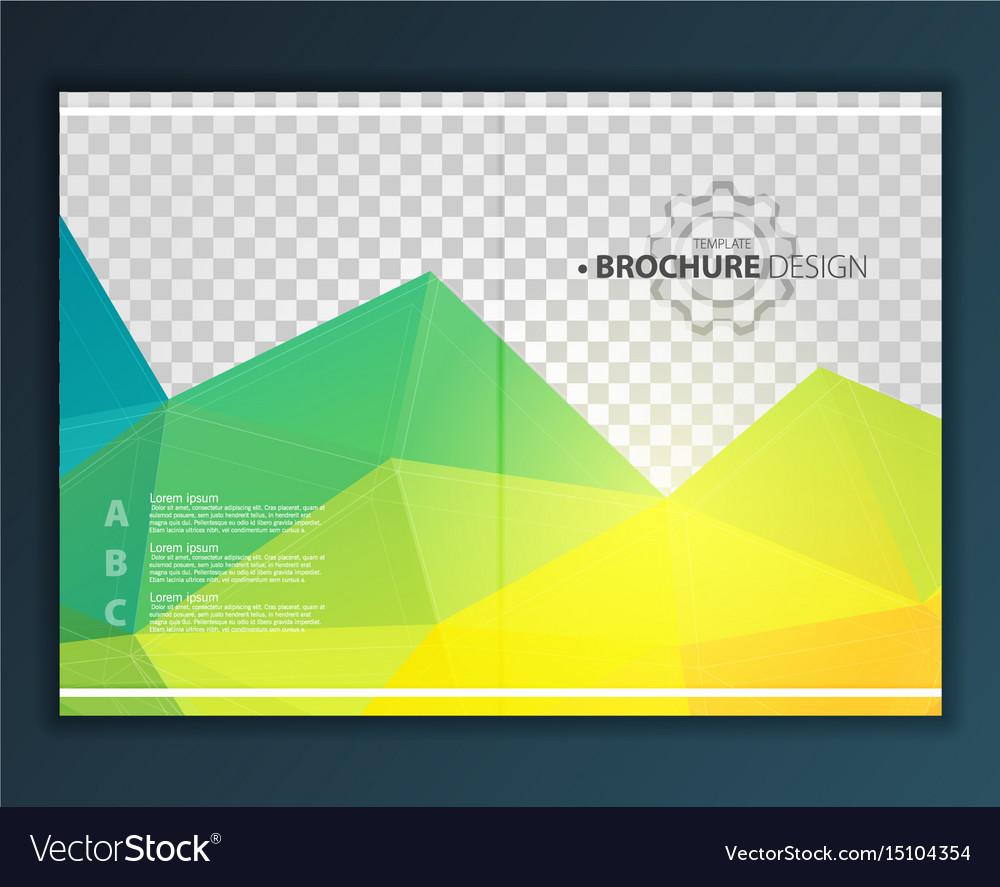 Brochure flyer design template
