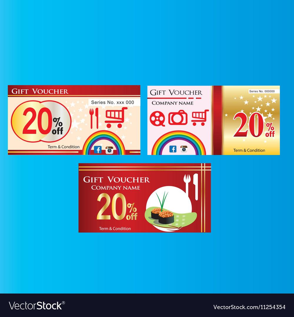 Business-voucher-design-clip-art vector image