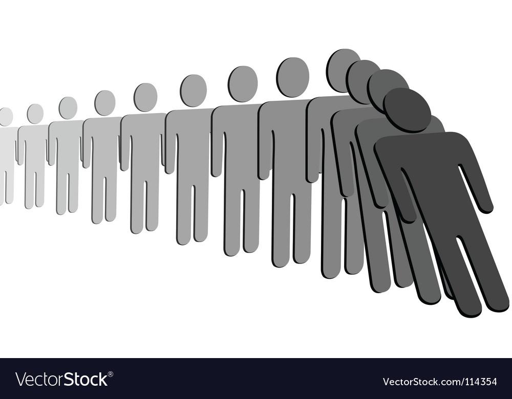 Domino effect vector image