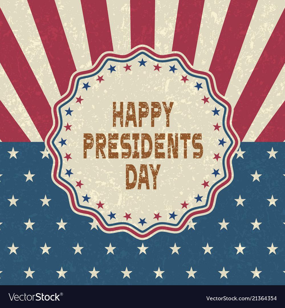 Grunge happy presidents day backgroundretro style
