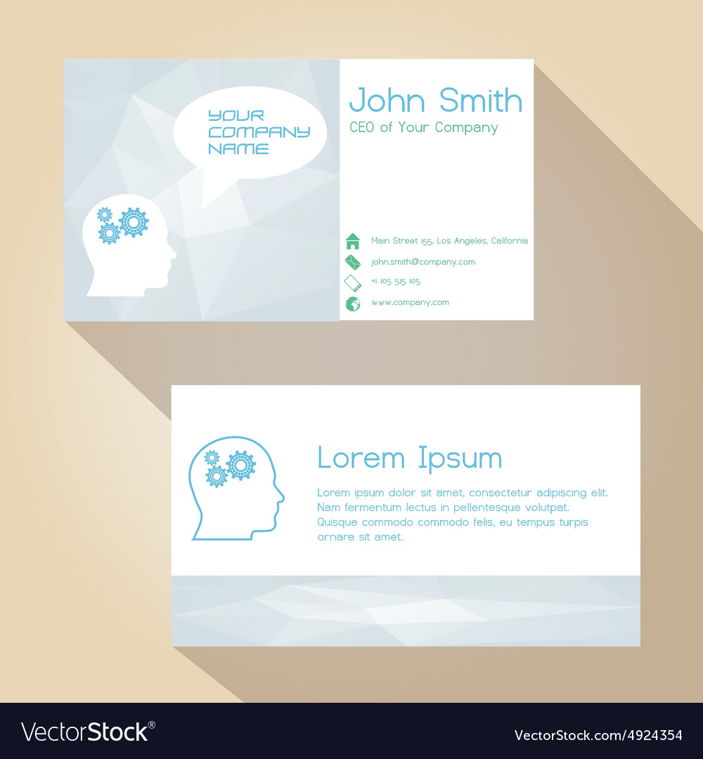 Light color white simple business card design vector image colourmoves