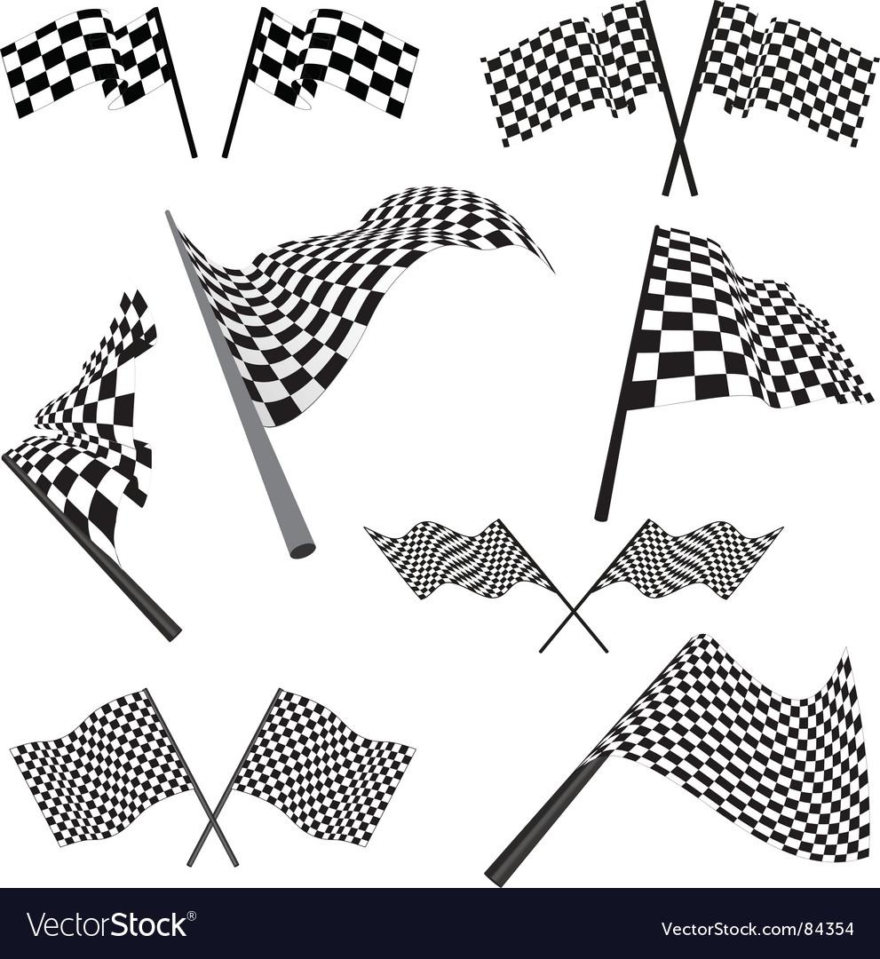 Set of racing flags