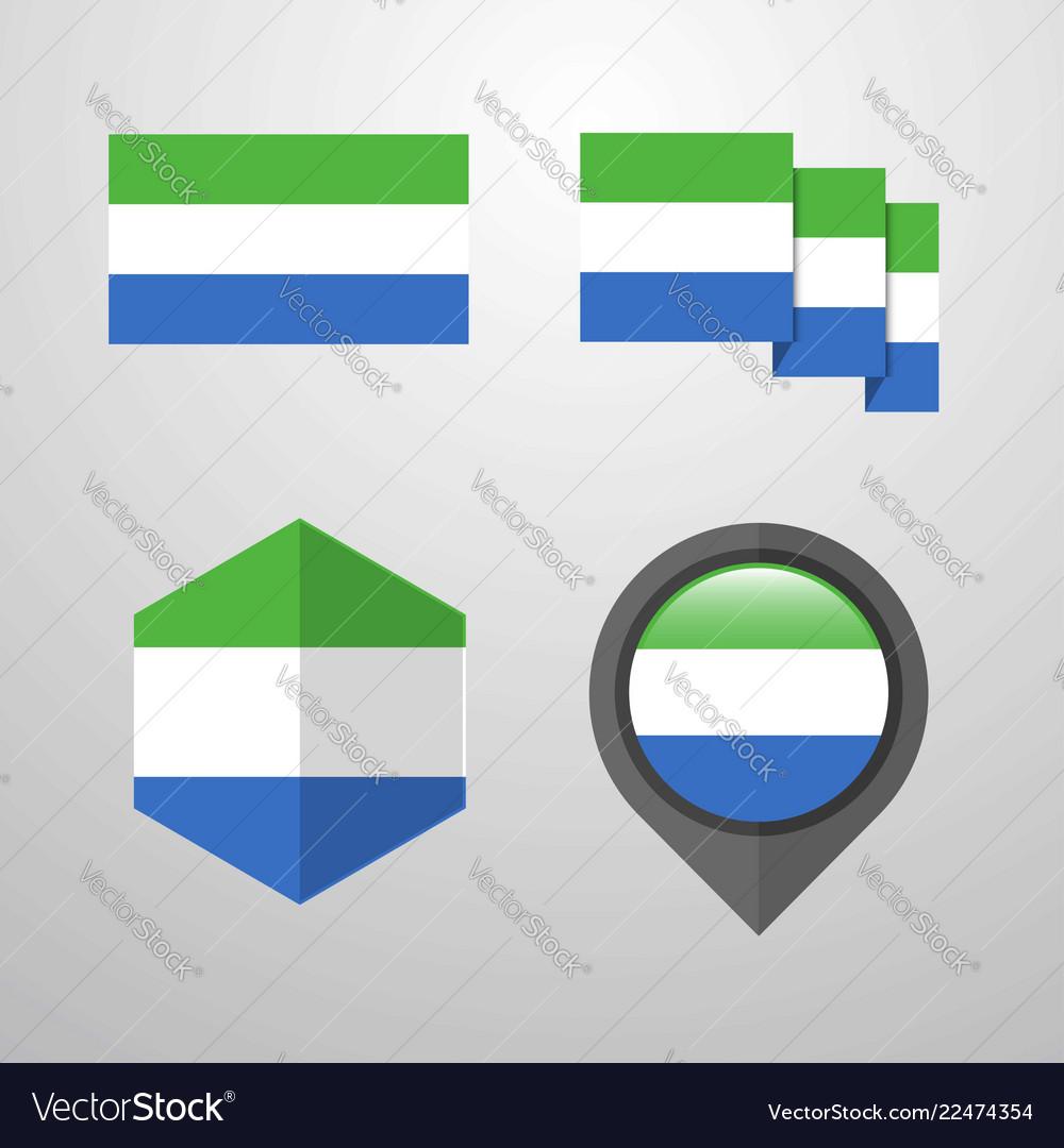 Sierra leone flag design set