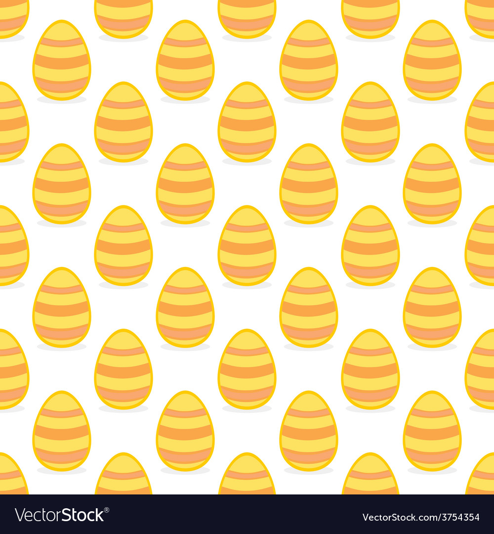 Tile pattern with easter eggs on white background