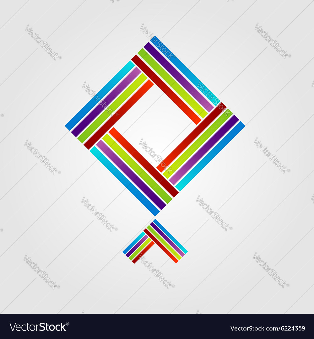 abstract kite logo for business royalty free vector image