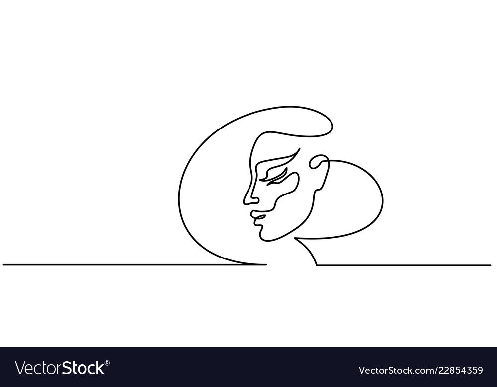 Abstract portrait of a woman side view