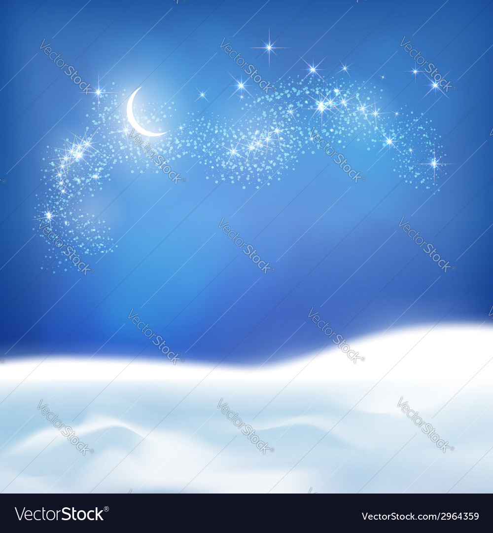 Abstract Winter Night Background