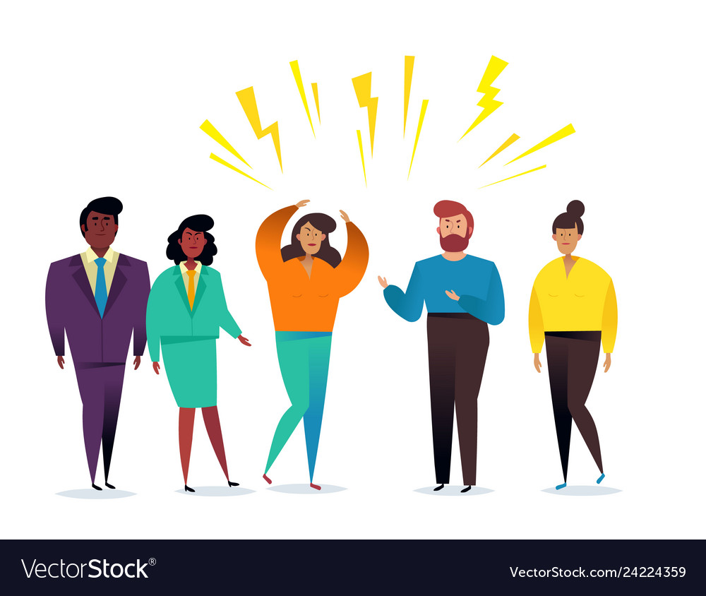 Business People Group Communication Relationship Vector Image