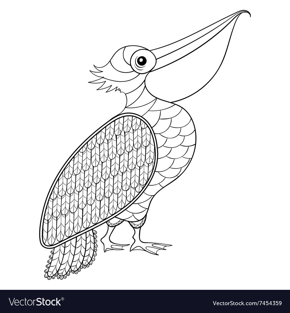 Pelican Coloring Pages Png & Free Pelican Coloring Pages.png ... | 1080x1000