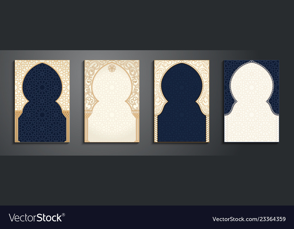 Eid al adha greetings backgrounds frame set