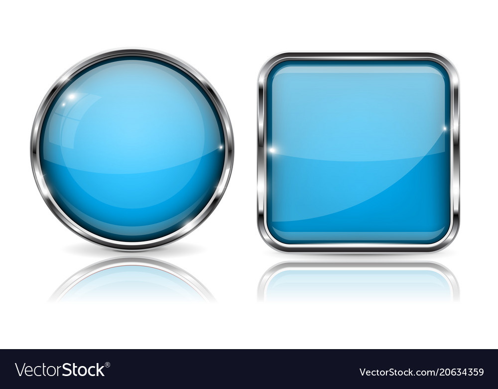 938ab6d859e Glass buttons blue square and round buttons vector image jpg 1000x780 Blue  buttons