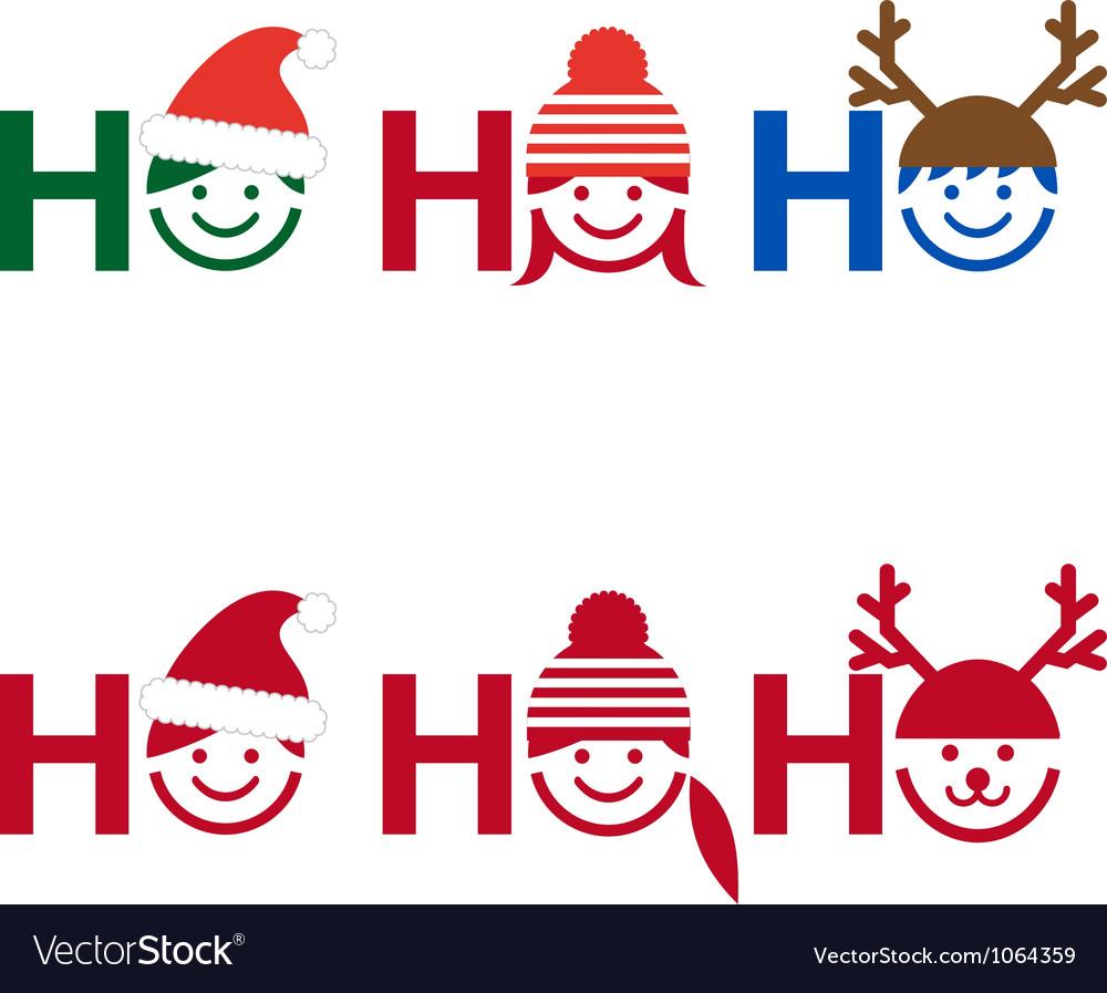 Ho ho ho Christmas card Royalty Free Vector Image