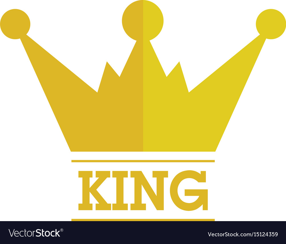 king crown logo royalty free vector image vectorstock