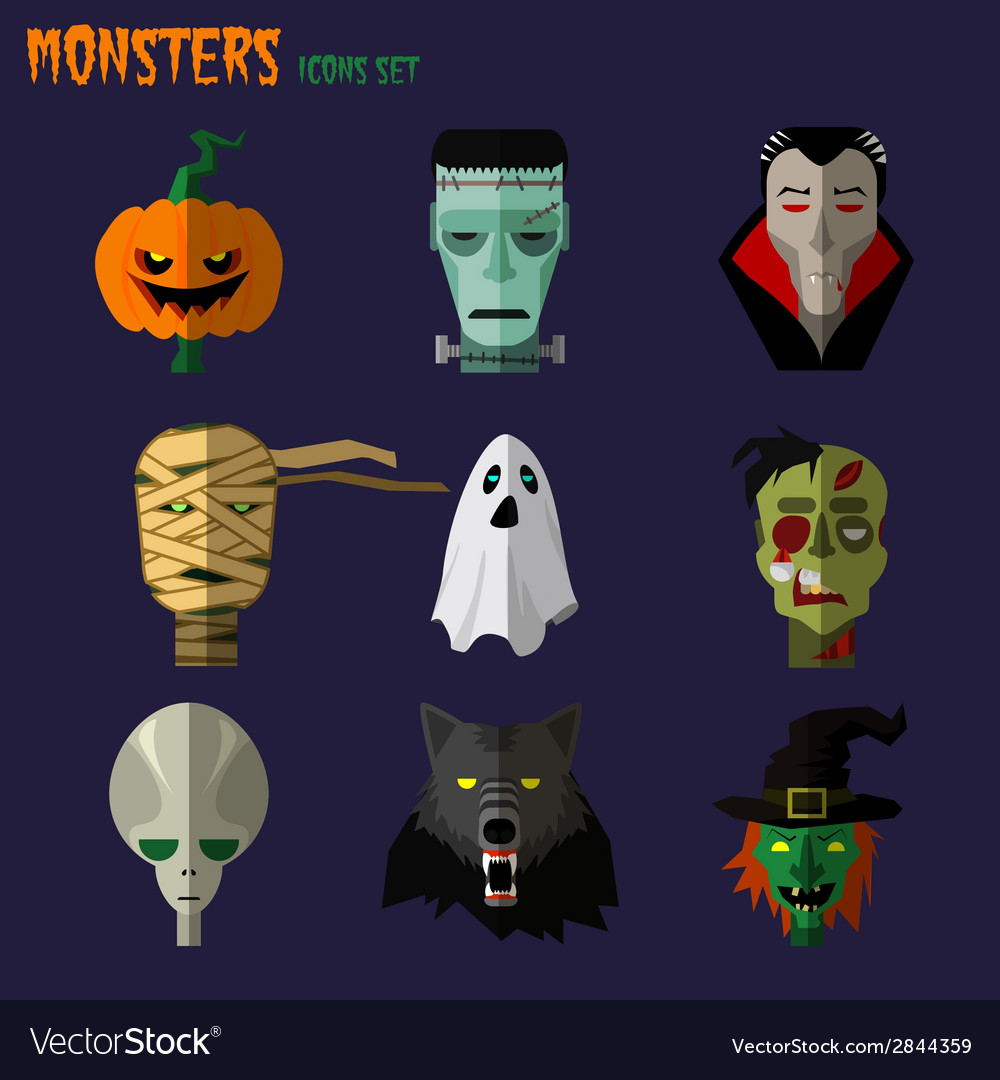 Monsters set icons