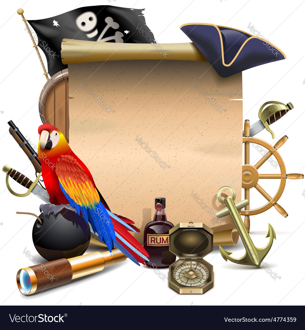 Pirate Frame Royalty Free Vector Image - VectorStock