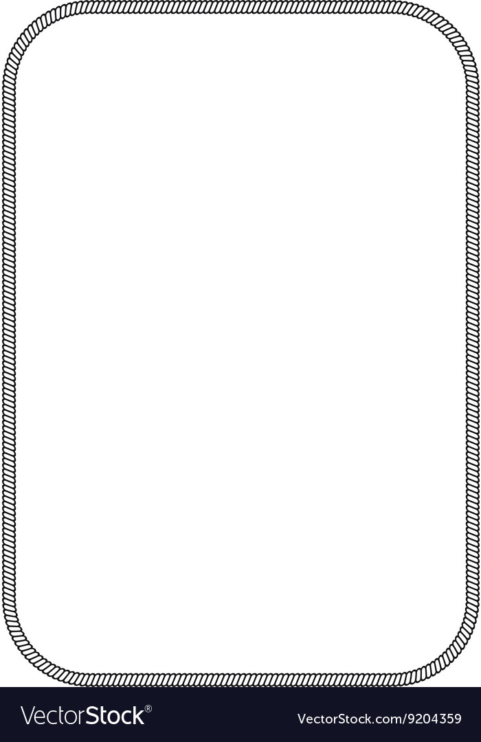 Simple marine frame vector image