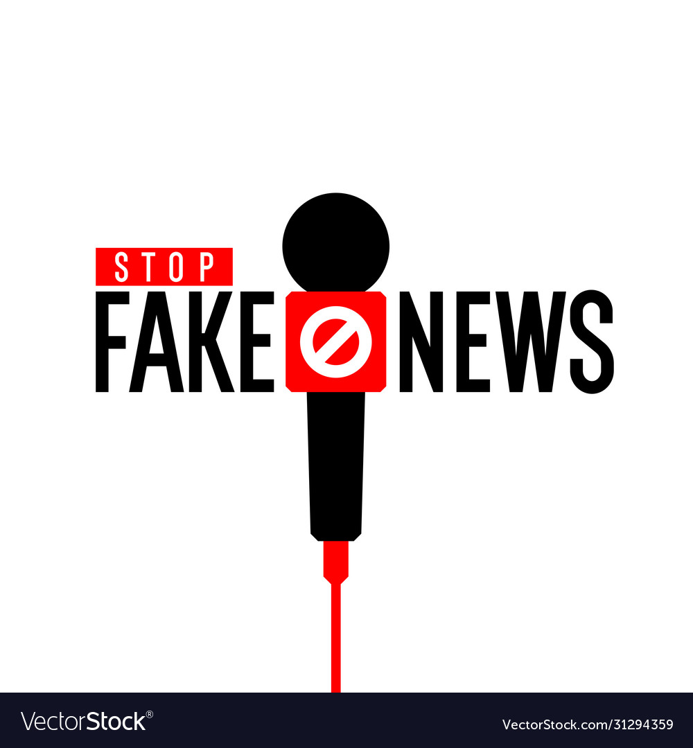 Stop fake news minimalistic poster for your