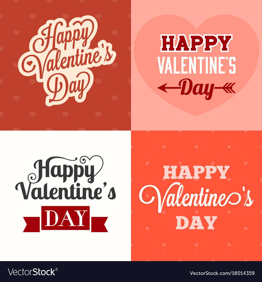 Typographic happy valentines day