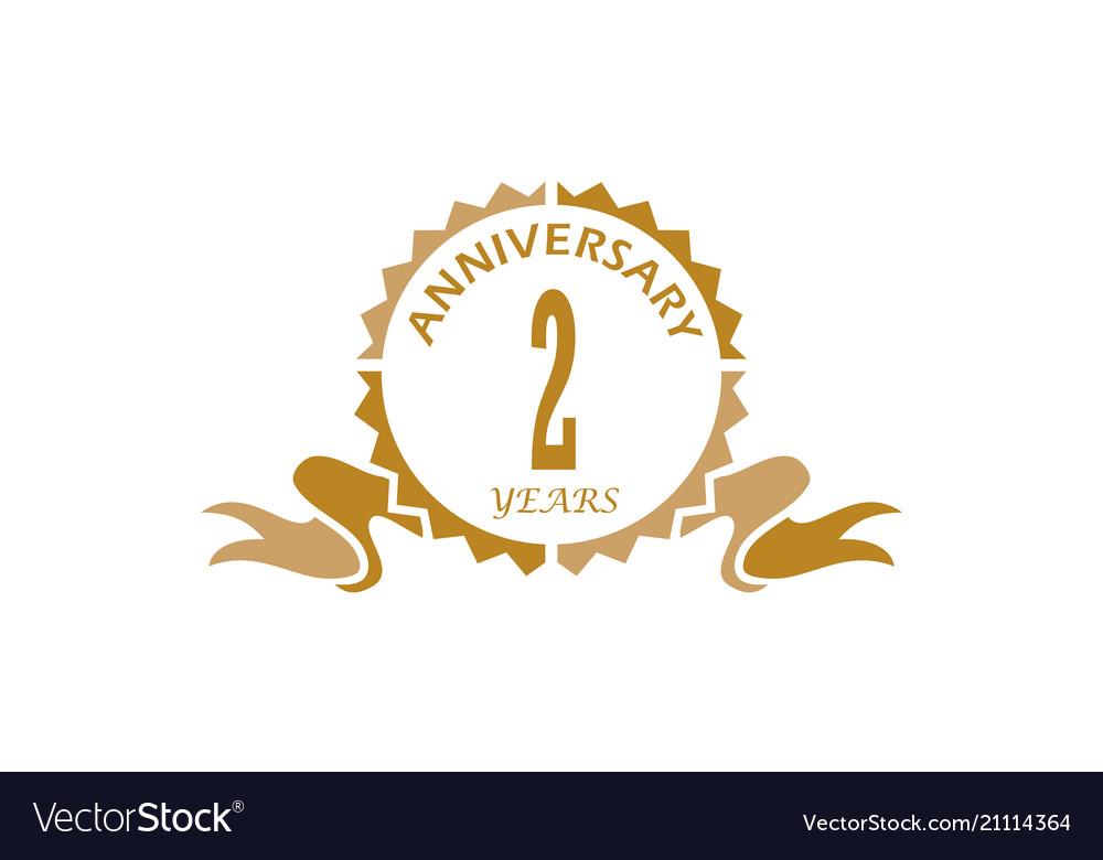 2 years ribbon anniversary