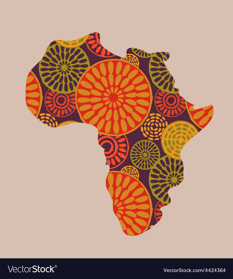 Africa - patterned map