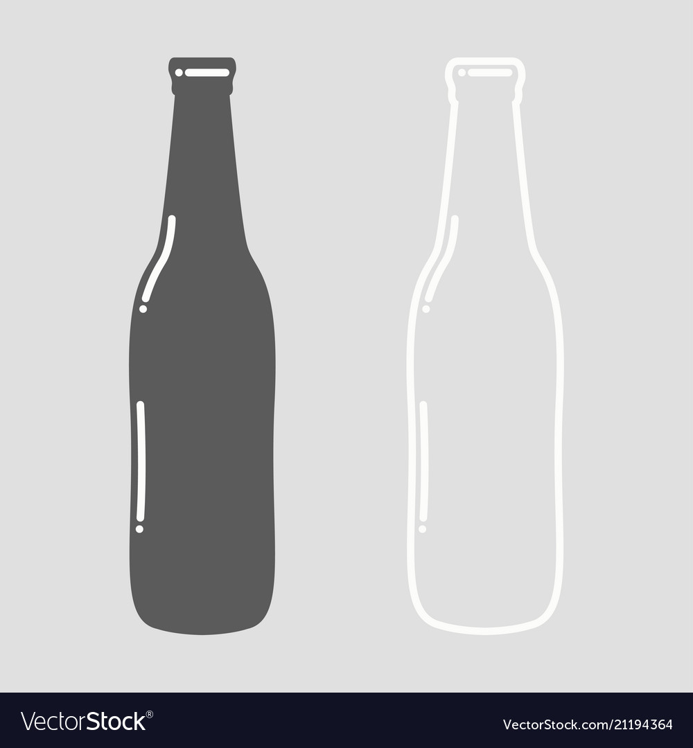 Beer bottle empty