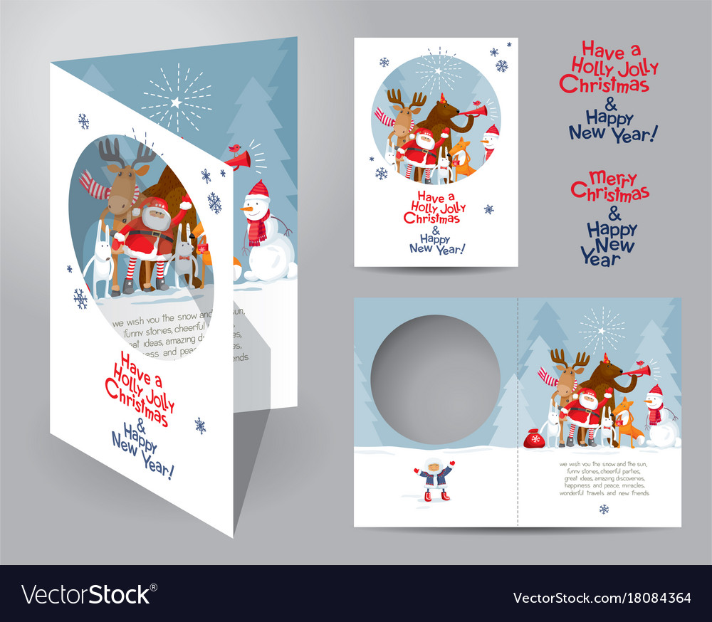 Christmas card concept Royalty Free Vector Image