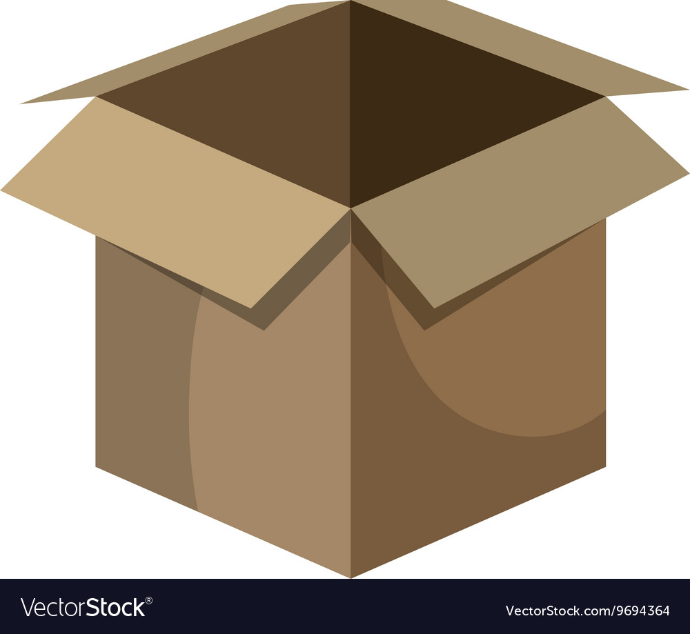 Delivery package box isolated icon