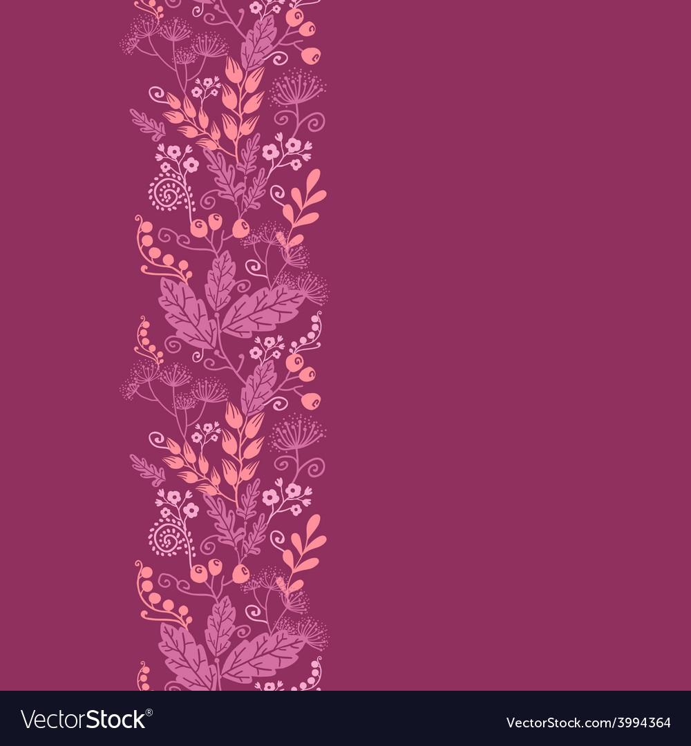 Fall garden vertical seamless pattern background vector image