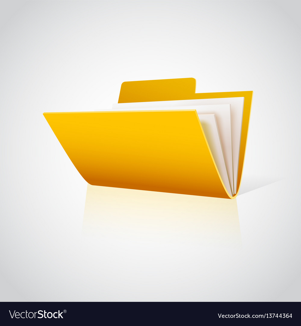 Folder icon with paper on white