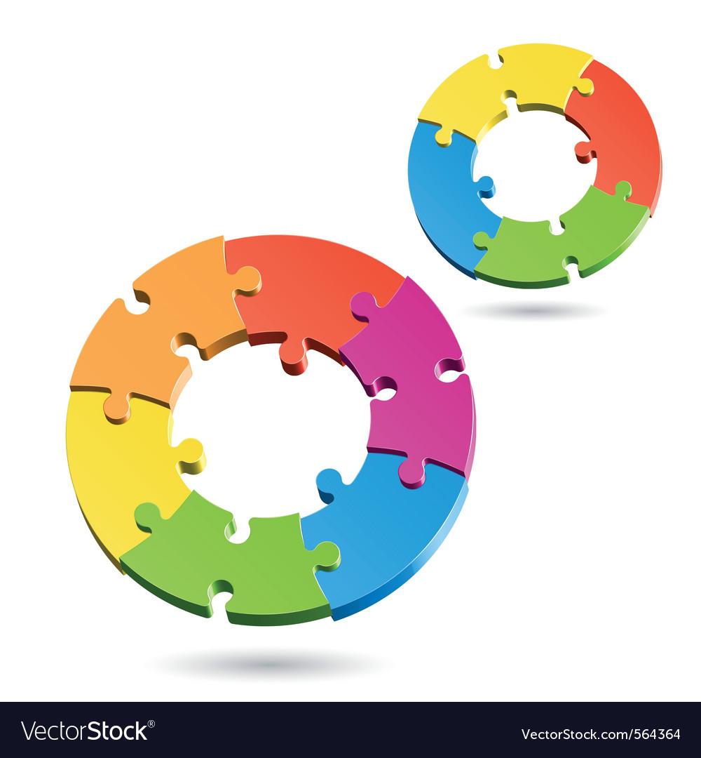 Jigsaw puzzle wheels