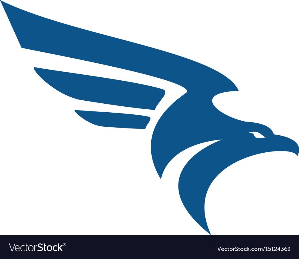 Falcon bird logo abstract design template