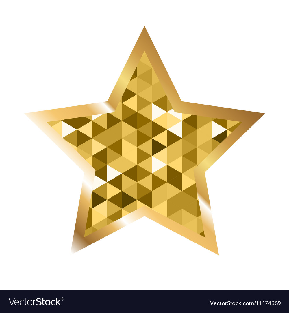 Golden Five Pointed Star Icon