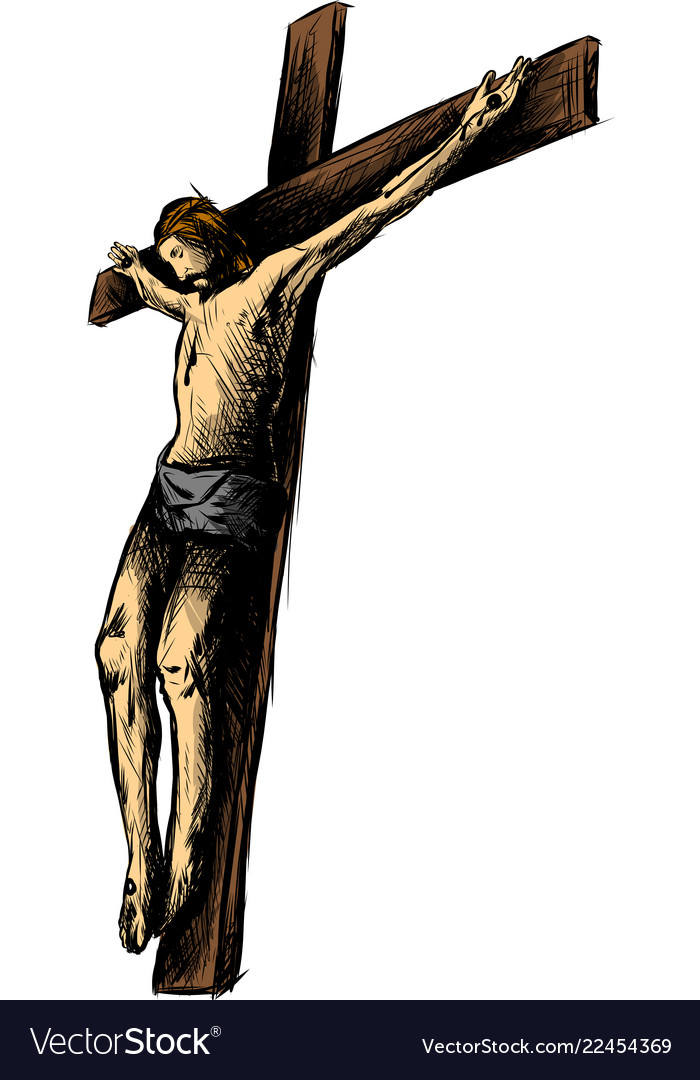 Jesus christ the son of god in a crown of thorns