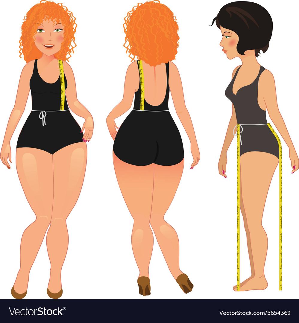 Measuring woman body
