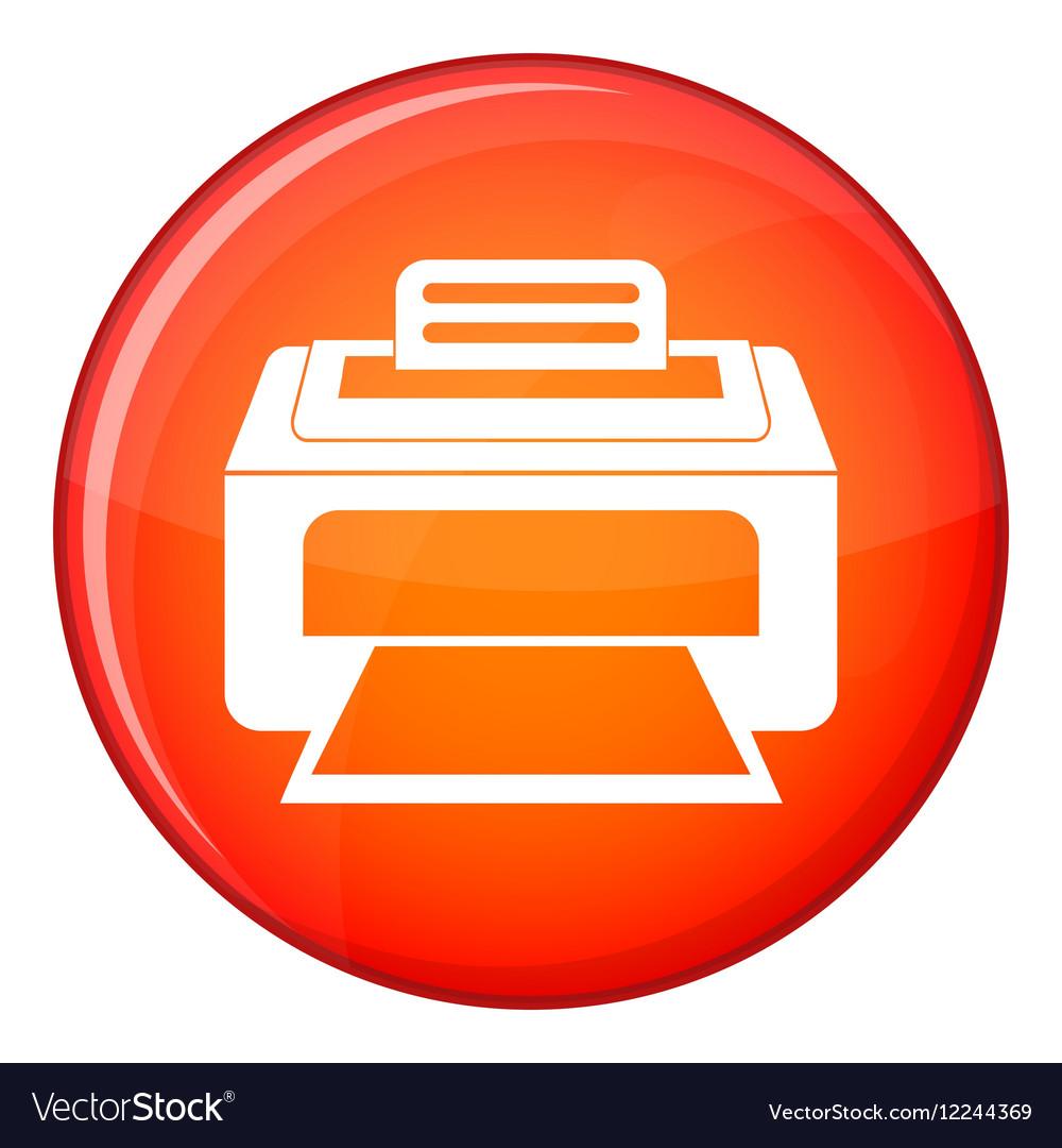 Modern laser printer icon flat style vector image