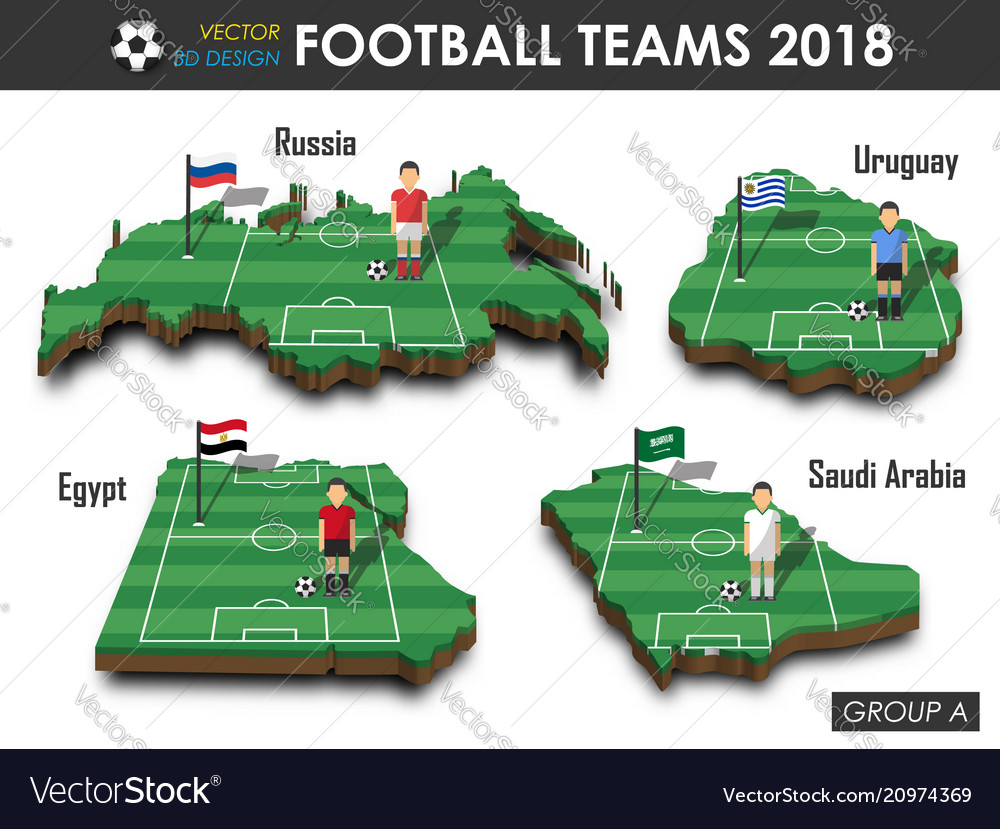 National soccer teams 2018 group a