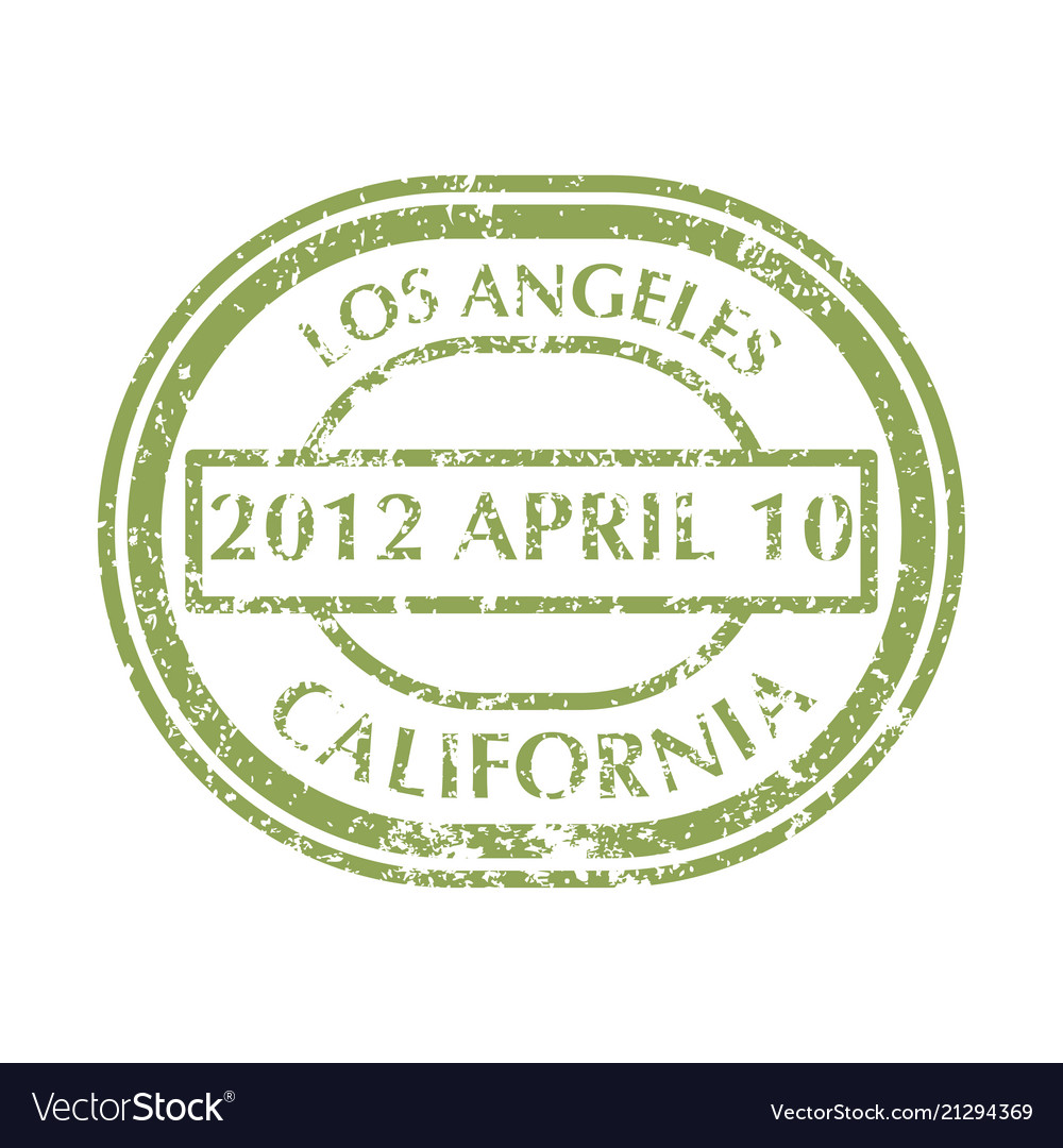 Postal stamp from los angeles