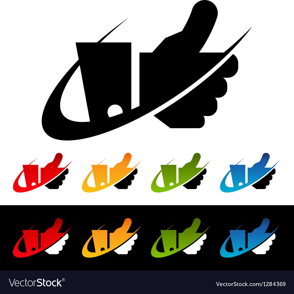 Swoosh Thumbs Up Logo Icons