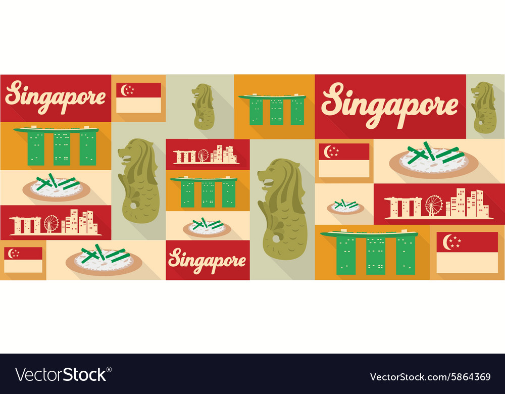 Travel and tourism icons Singapore