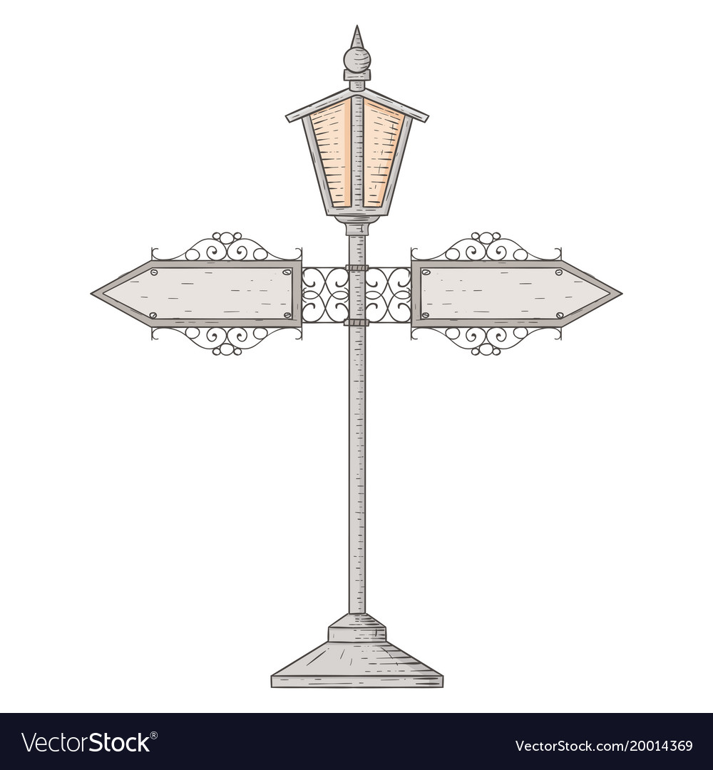 Vintage lamp post hand drawn sketch royalty free vector vintage lamp post hand drawn sketch vector image aloadofball Image collections