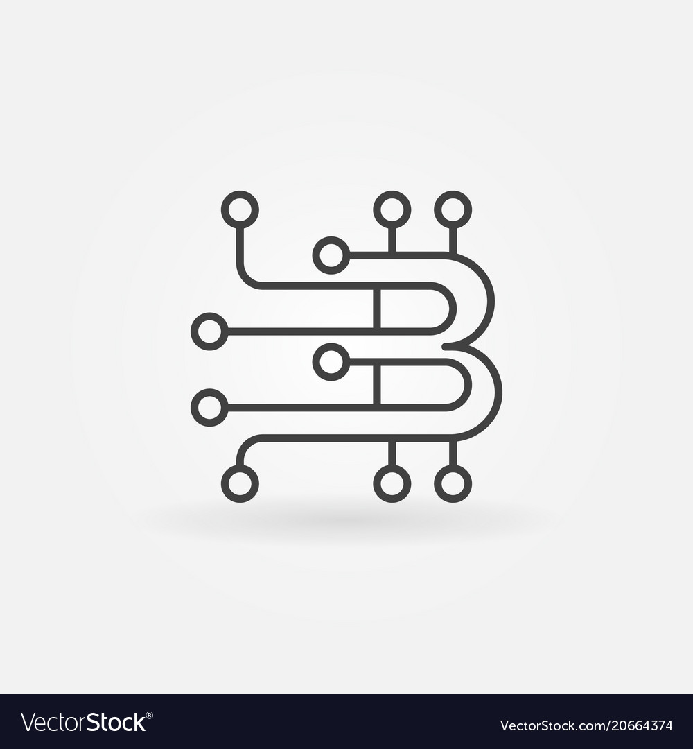 Blockchain outline logo element or icon vector image