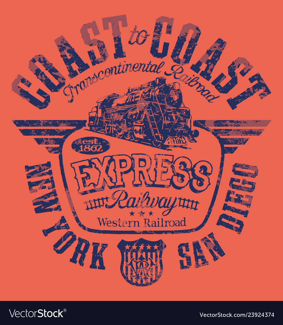 Express american railway western railroad