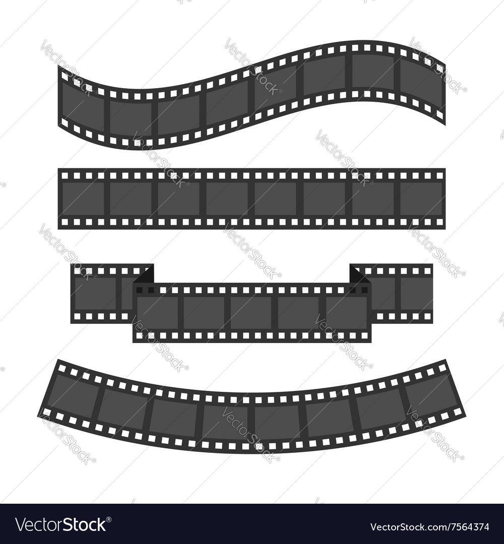 Film strip frame set Different shape ribbon Design