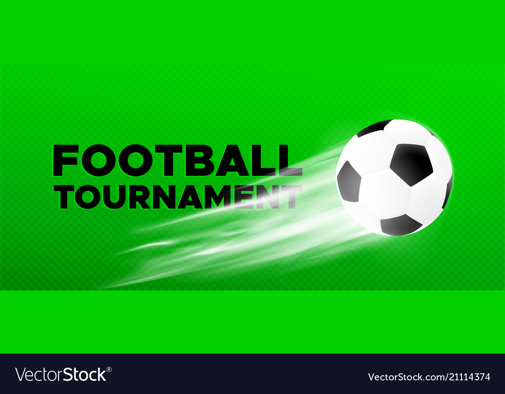 Football Sport Poster Design With Soccer Ball Vector Image
